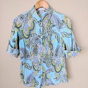 ValHeusen Floral Button Up Shirt 💐